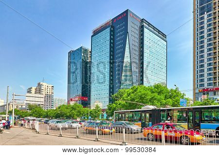 Beijing, China - May 22, 2015: The People-the Citizens Of Beijing, Modern Office And Residential Bui