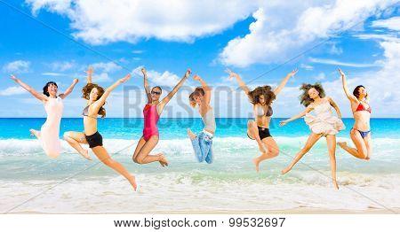 Summer Exercise On a Beach