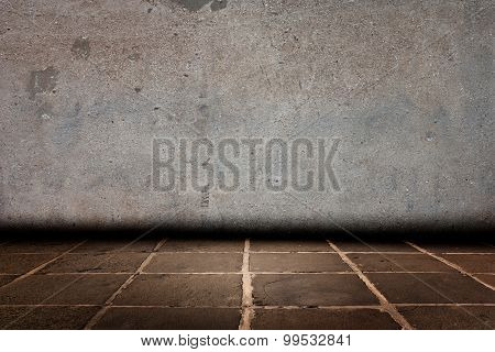 Vintage Or Grungy White Background Of Natural Cement And Cement  Flooring
