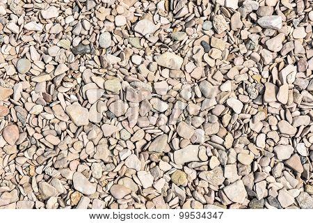 Round And Flat Pebble Stone