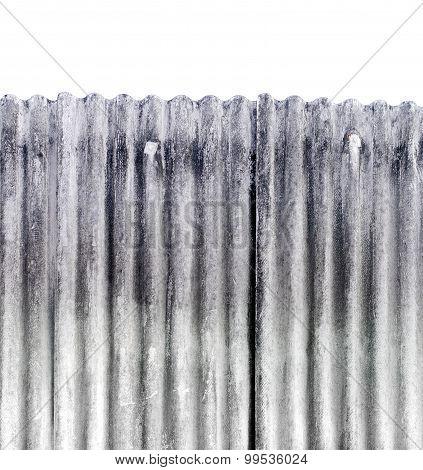 Galvanized Iron Texture Background ,isolated White Background