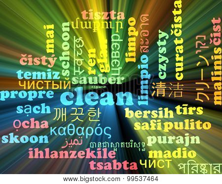 Background concept wordcloud multilanguage international many language illustration of clean glowing light