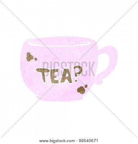 retro cartoon cup of tea