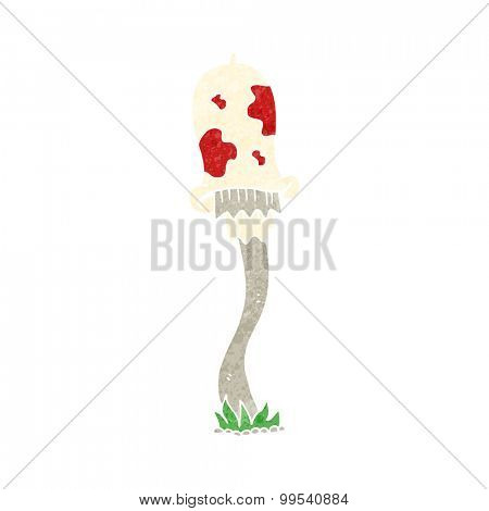 retro cartoon mushroom