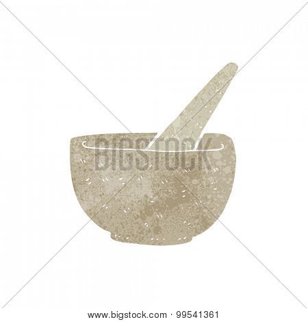 retro cartoon pestle and mortar