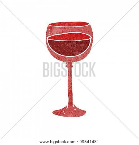 retro cartoon wine glass