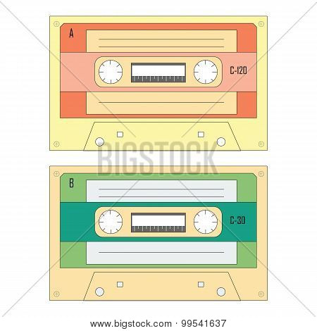 Set Of Various Audio Cassette Tapes