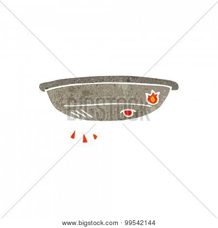 retro cartoon fire alarm