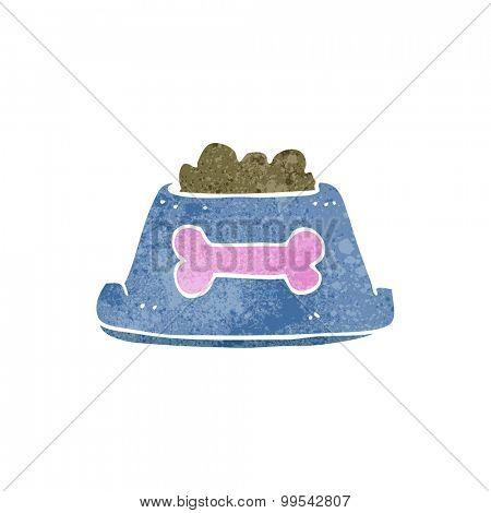 retro cartoon dog food in bowl