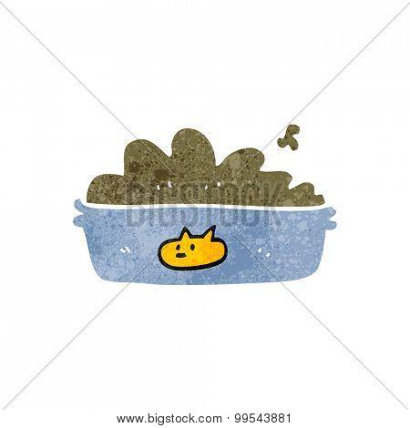 retro cartoon cat food