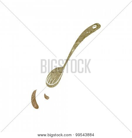 retro cartoon spoon