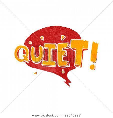 retro cartoon comic book shout for quiet