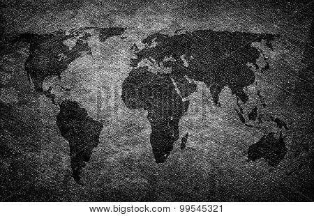 world map on mat background