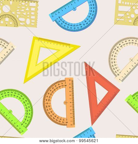 Seamless Wallpaper The Ruler And Protractor Line Of The Triangle