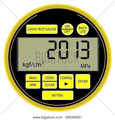 Modern Digital Gas Manometer