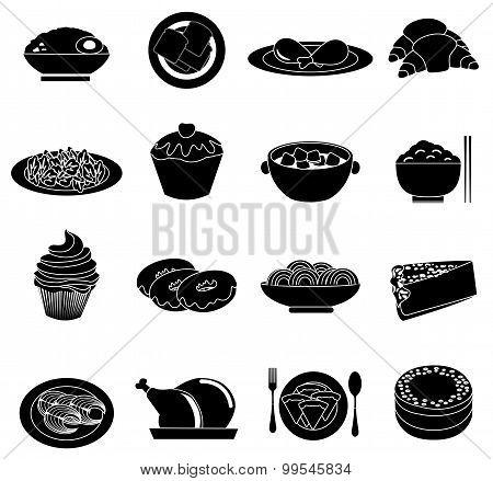Foods icons set