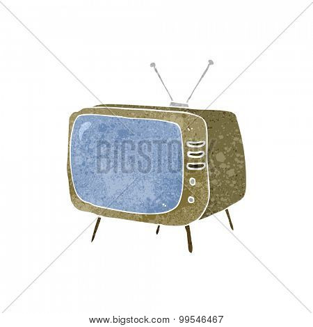 retro cartoon television