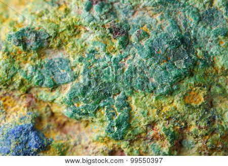 Copper Ore Texture Close Up
