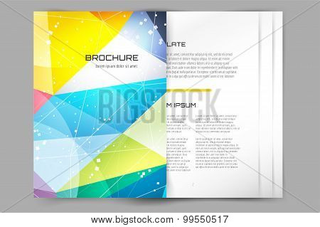 Abstract brochure or flyer design templatee.