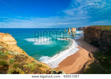 The Twelve Apostles and beach
