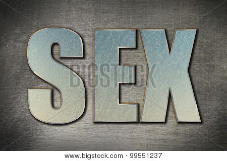 Sex Word Concept