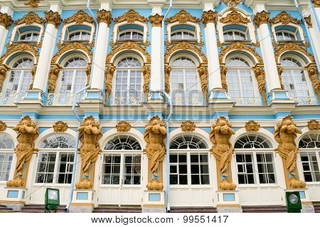 The Large facade of the Catherine Palace