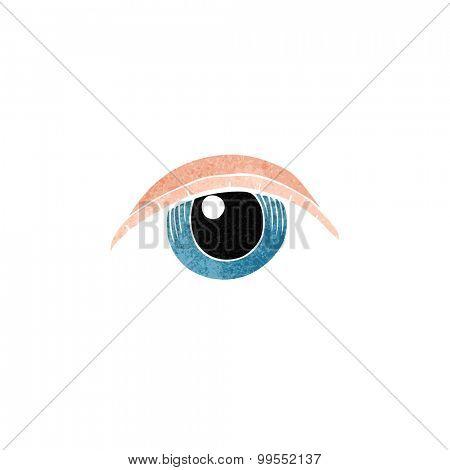 retro cartoon tattoo eye symbol