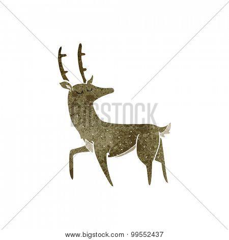 retro cartoon stag