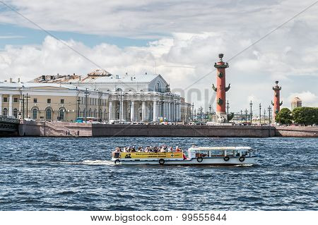 Vasilyevsky Island In Summer Day