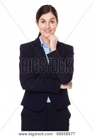 Brunette young businesswoman portrait