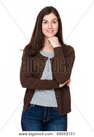 Brunette young woman portrait