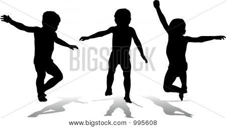 Three Jumping Children