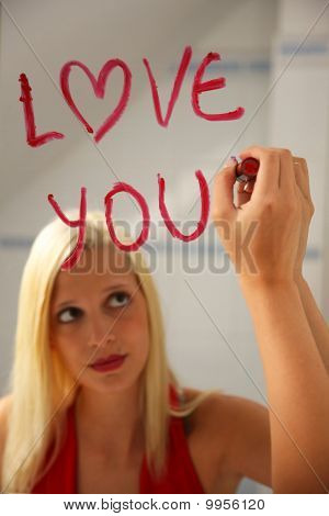 Love Message On The Mirror