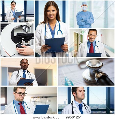 Portraits of medical people at work