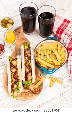 Hot dogs and french fries