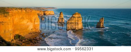 The Twelve Apostles sunset panorama