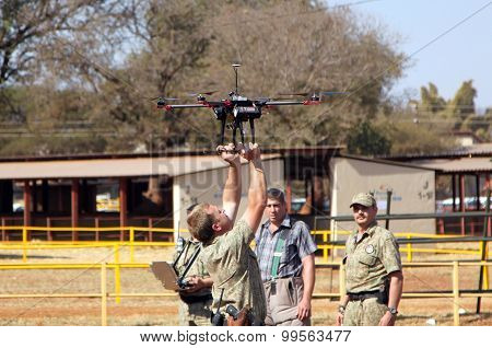 Farm Community Security Displaying Drone With Camera