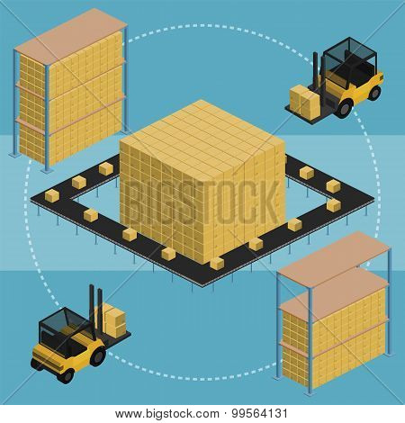 Warehouse of the future. Warehouse process. Warehouse logistic. Warehouse. Warehouse isometric vector. Warehouse worker. Warehouse infographics. Warehouse inerior. Warehouse service. Modern warehouse.