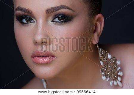 Stylish beauty close-up portrait