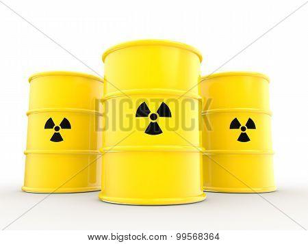 3d radiations symbol and barrels