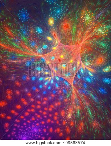 Star dance. Fractal background