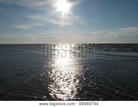 Sunset in Baltic sea
