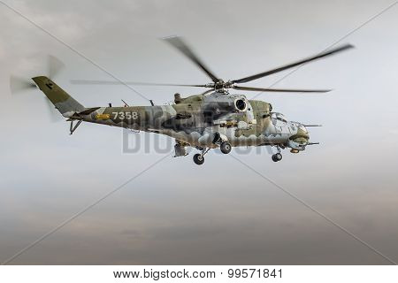 Radom, Poland - August 22: Mi-24 Hind Display During Air Show 2015 Event On August 22, 2015 In Radom