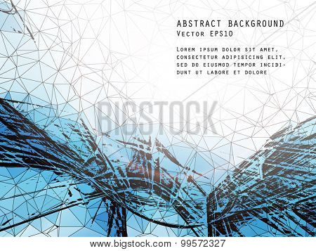 Abstract vector grunge background.