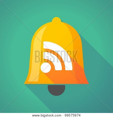 Bell Icon With An Rss Sign