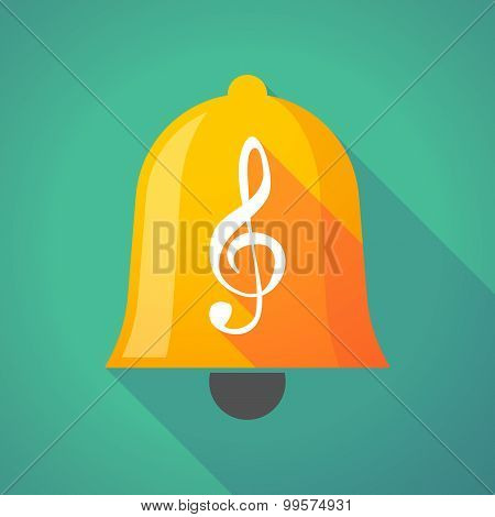 Bell Icon With A G Clef