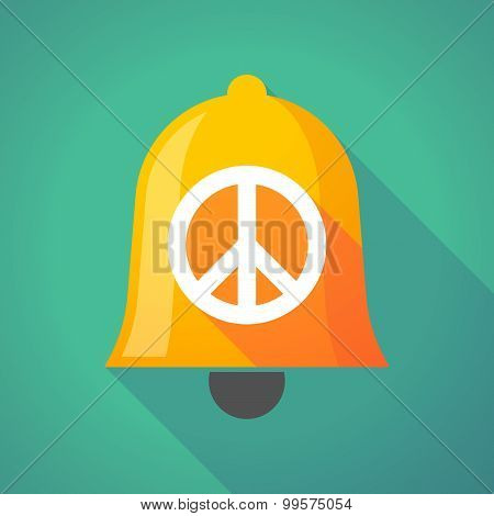 Bell Icon With A Peace Sign