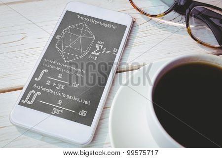 geometry problem against smartphone on table