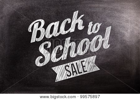 Back to school sale message against black background