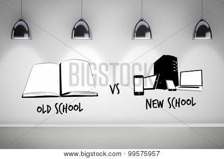 old school vs new school against grey room